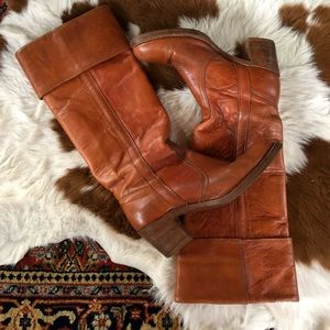 Vintage FRYE Leather Knee High Boots